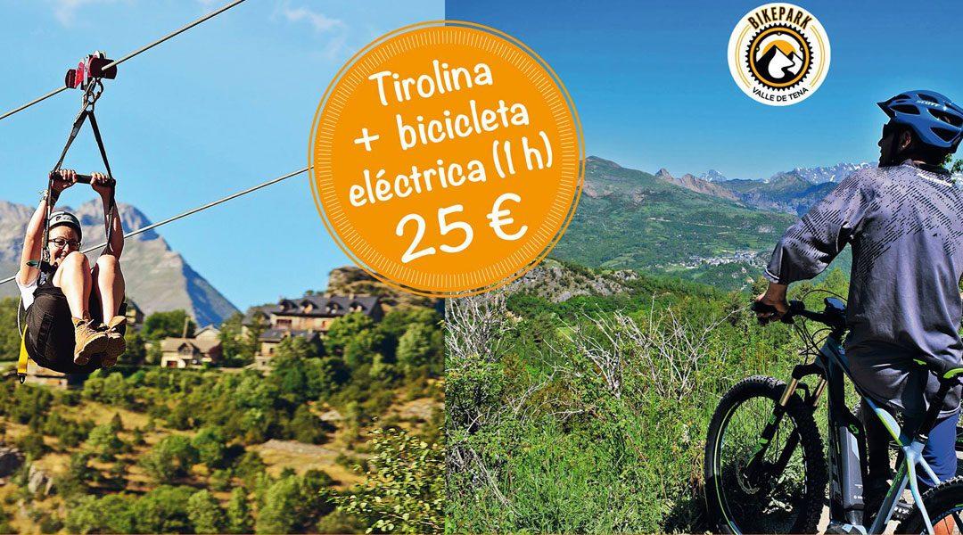 Promoción: BTT + Tirolina Valle de Tena