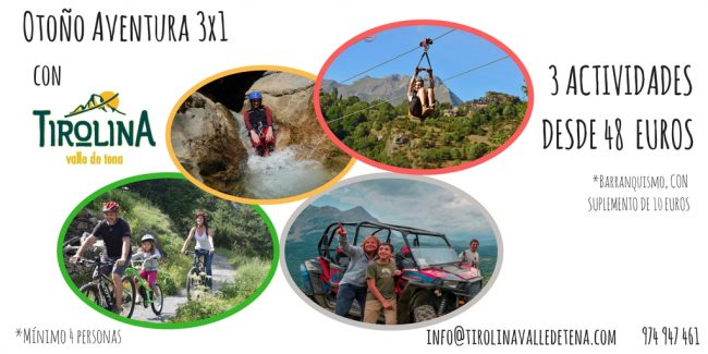 ¡Tres actividades en 1 con #OtoñoAventura!